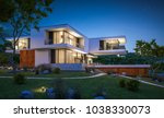 3d rendering of modern cozy... | Shutterstock . vector #1038330073