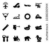 solid vector icon set   plane... | Shutterstock .eps vector #1038330544