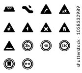 solid vector icon set   taxi... | Shutterstock .eps vector #1038332989