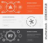 entrepreneurship 3 horizontal... | Shutterstock .eps vector #1038334318
