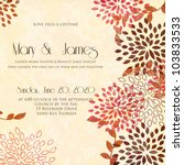 wedding card or invitation with ...   Shutterstock .eps vector #103833533
