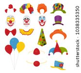 vector party birthday or 1th... | Shutterstock .eps vector #1038335350