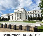federal reserve building on the ... | Shutterstock . vector #1038338110