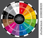 vector wheel of color... | Shutterstock .eps vector #1038338320