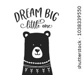 dream big little one nursery... | Shutterstock .eps vector #1038339550