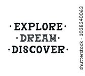 explore dream discover   cute... | Shutterstock .eps vector #1038340063
