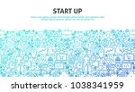 start up concept. vector... | Shutterstock .eps vector #1038341959