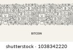 bitcoin banner concept. vector...   Shutterstock .eps vector #1038342220