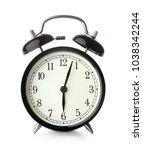 retro style alarm clock... | Shutterstock . vector #1038342244