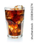 glass of cola with ice isolated ... | Shutterstock . vector #1038342274