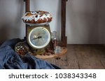 the rustic country still life... | Shutterstock . vector #1038343348
