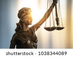 Statue Of Justice With Scales...