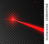 abstract red laser beam.... | Shutterstock .eps vector #1038345568