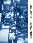 complex engine of modern car...   Shutterstock . vector #103834589