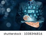 gdpr  general data protection... | Shutterstock . vector #1038346816