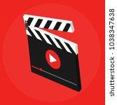 video icon isometric vector