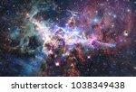 mystic mountain. region in the...   Shutterstock . vector #1038349438