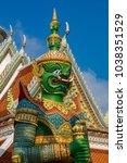 wat arun bangkok thailand 03... | Shutterstock . vector #1038351529
