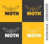 moth insect logo  polygonal... | Shutterstock .eps vector #1038353539