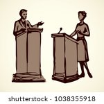 government election talk... | Shutterstock .eps vector #1038355918
