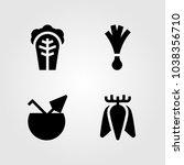 fruits vegetables vector icon... | Shutterstock .eps vector #1038356710