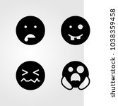 emotions vector icon set. smile ... | Shutterstock .eps vector #1038359458