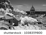 frame from city of omis ... | Shutterstock . vector #1038359800
