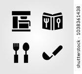 kitchen vector icon set. ladle  ... | Shutterstock .eps vector #1038361438
