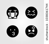 emotions vector icon set. dizzy ... | Shutterstock .eps vector #1038361744