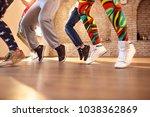 close up of dancer   s legs in... | Shutterstock . vector #1038362869