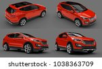 set compact city crossover red... | Shutterstock . vector #1038363709