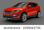 compact city crossover red... | Shutterstock . vector #1038363730