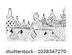 borobudur or barabudur is a 9th ...   Shutterstock .eps vector #1038367270