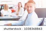 portrait of confident...   Shutterstock . vector #1038368863