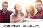 group of cheerful friends...   Shutterstock . vector #1038369298