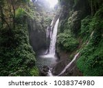 aling aling waterfall in north... | Shutterstock . vector #1038374980