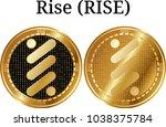 set of physical golden coin...   Shutterstock .eps vector #1038375784