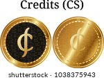 set of physical golden coin...   Shutterstock .eps vector #1038375943