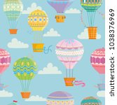 seamless pattern with colorful  ... | Shutterstock .eps vector #1038376969