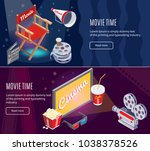 isometric colorful... | Shutterstock .eps vector #1038378526