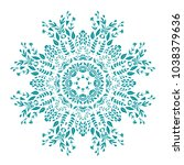 patterned circular ornament... | Shutterstock .eps vector #1038379636
