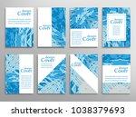 vector abstract background set. ... | Shutterstock .eps vector #1038379693