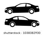 two black car silhouettes on a... | Shutterstock .eps vector #1038382930