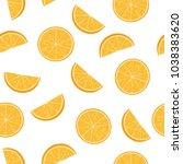 seamless pattern from cut half...   Shutterstock .eps vector #1038383620