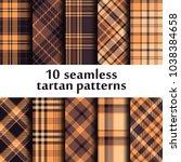 set of seamless tartan pattern | Shutterstock .eps vector #1038384658