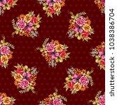 beautiful floral seamless... | Shutterstock . vector #1038386704