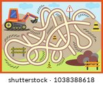 find the right path maze with... | Shutterstock .eps vector #1038388618