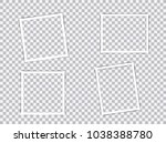 set of blank photo frames with... | Shutterstock .eps vector #1038388780
