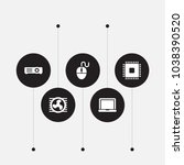 set of 5 computer icons set.... | Shutterstock . vector #1038390520