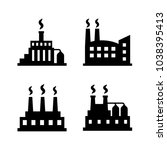 factory icon set | Shutterstock .eps vector #1038395413